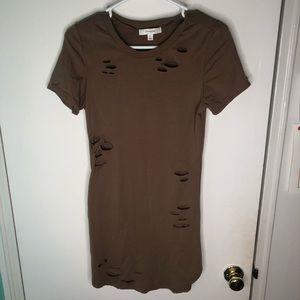 Brown Distressed Dress